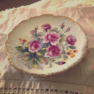 Antique Hand Painted artist Signed Plate